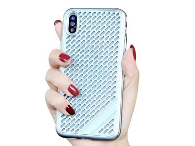 Силиконов Гръб Meshes за iPhone Xs Max (6.5), Сребрист