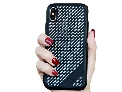 Силиконов Гръб Meshes за iPhone Xs Max (6.5), Черен