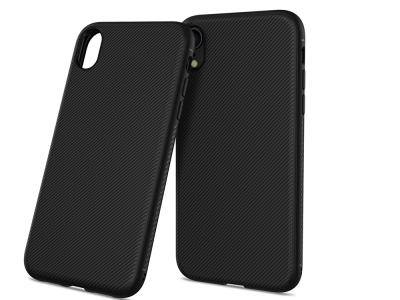 Силиконов гръб Twill за iPhone XR (6.1), Черен