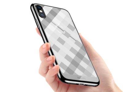 Силиконов гръб SULADA за iPhone XS Max (6.5), Сребрист
