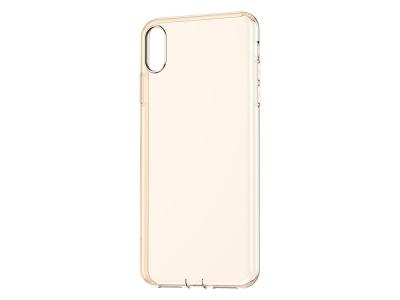 Силиконов гръб BASEUS за iPhone XR (6.1), Златист / Прозрачен