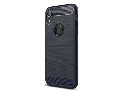 Силиконов гръб Carbon за iPhone XR (6.1 ), Тъмно син