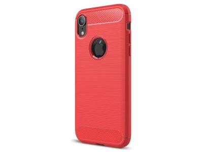 Силиконов гръб Carbon за iPhone XR (6.1), Червен