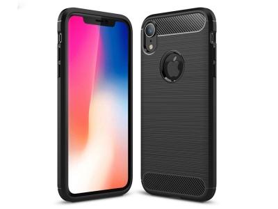 Силиконов гръб Carbon за iPhone XR (6.1), Черен