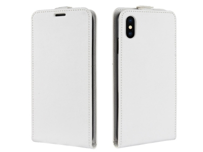 Калъф тефтер за iPhone XS Max (6.5), Бял