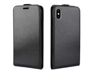 Калъф тефтер за iPhone XS Max (6.5) , Черен