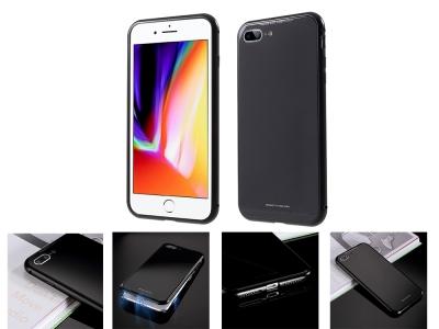 360 Алуминиев магнитен бъмпер за iPhone 7 Plus / 8 Plus , Черен