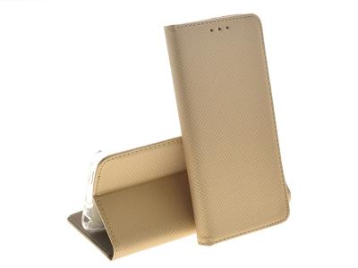 Калъф Тефтер Magnetic BOOK за Huawei P Smart / Enjoy 7s , Златист
