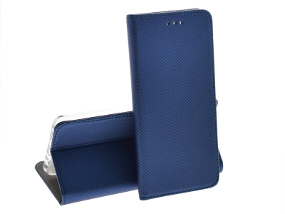 Калъф Тефтер Magnetic BOOK за Huawei P Smart / Enjoy 7s, Син