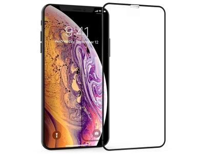 Стъклен протектор 5D Full Glue за Iphone XS Max (6.5), Черен