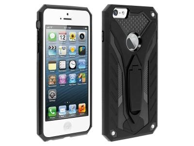 Удароустойчив гръб PHANTOM за iPhone 5 / 5S / SE , Черен