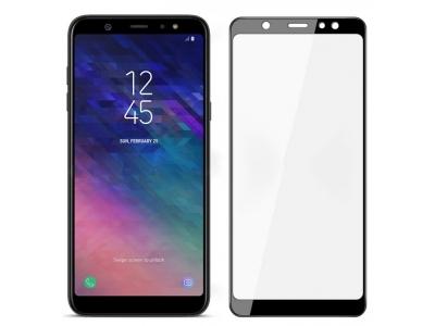 Стъклен Протектор Full Glue за Samsung Galaxy A6 Plus 2018, Черен