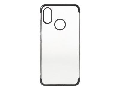 Силиконов гръб с лайстна за Xiaomi Mi 8, Черен