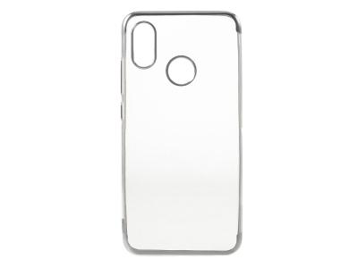 Силиконов гръб с лайстна за Xiaomi Mi 8 , Сребрист