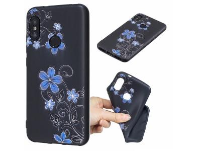 Силиконов гръб за Xiaomi Mi A2 Lite / Redmi 6 Pro, Цветя и пеперуди