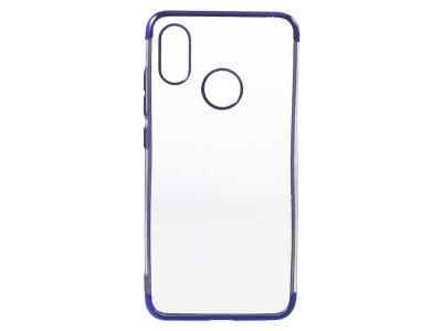Силиконов гръб с лайстна за Xiaomi Mi 8 , Син