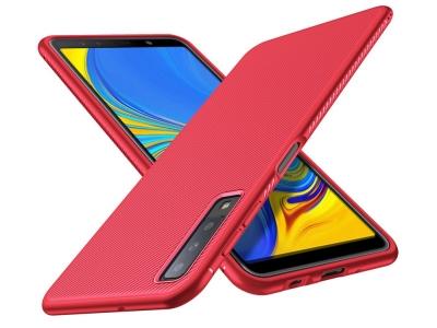 Силиконов гръб Twill за Samsung Galaxy A7 (2018), Червен