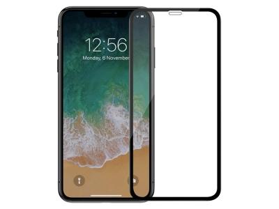 Стъклен протектор 5D Full Glue за Iphone XR  (6.1), Черен