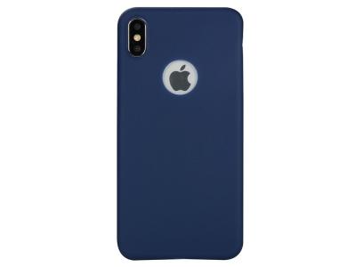 Силиконов калъф Matte за iPhone XS Max (6.5), Син
