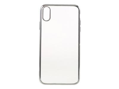 Силиконов Калъф с лайсна за iPhone XS Max (6.5), Сребрист