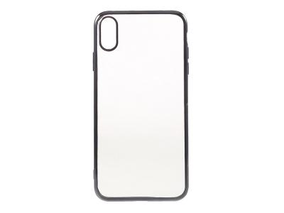 Силиконов Калъф с лайсна за iPhone XS Max (6.5), Сив