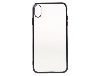 Силиконов Калъф с лайсна за iPhone XS Max (6.5 ), Черен