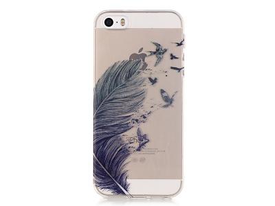 Силиконов Гръб - iPhone SE/5s/5 - Feather and Birds