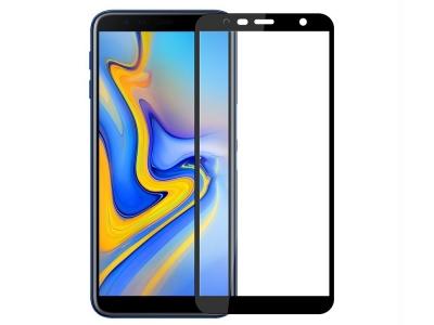 Стъклен Протектор MOFI 2.5D за Samsung Galaxy J4 Plus, Черен