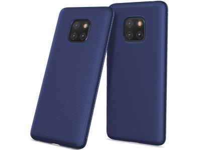 Силиконов гръб Twill за Huawei Mate 20 Pro, Син