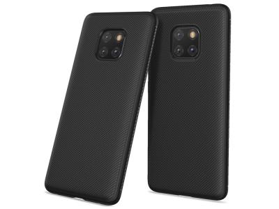Силиконов гръб Twill за Huawei Mate 20 Pro, Черен