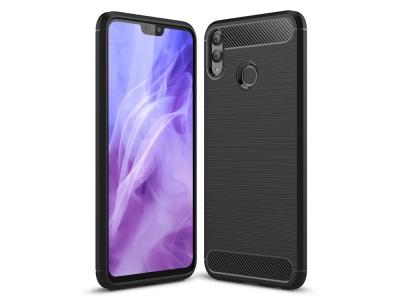 Силиконов гръб Carbon за Huawei Honor 8X, Черен