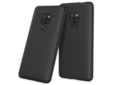 Силиконов гръб Twill за Huawei Mate 20, Черен