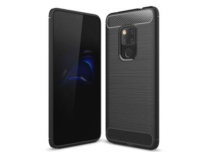 Силиконов гръб Carbon за Huawei Mate 20, Черен