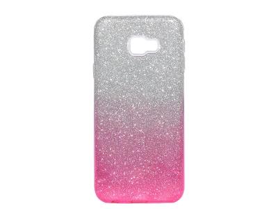 Силиконов Гръб SHINING за Samsung Galaxy J4 Plus  (2018) J415, Сребрист/ Розово