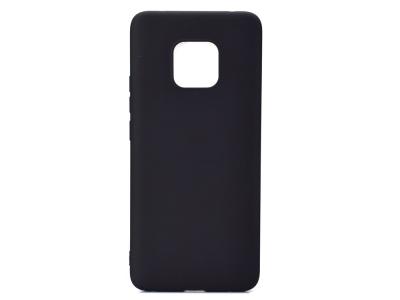 Силиконов гръб Matte за Huawei Mate 20 Pro, Черен