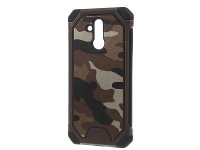 Удароустойчив гръб Camouflage за Huawei Mate 20 Lite, Камуфлаж / Кафе