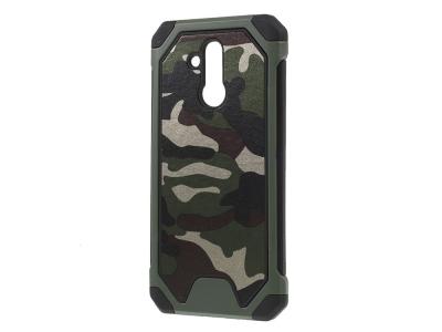 Удароустойчив гръб Camouflage за Huawei Mate 20 Lite, Зелен