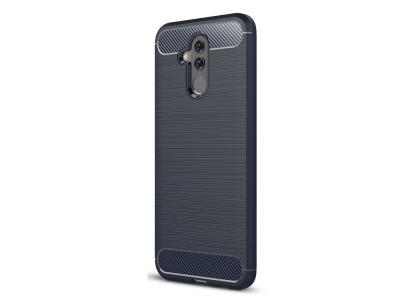 Силиконов гръб Carbonза Huawei Mate 20 Lite, Тъмно син