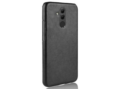 Пластмасов гръб с кожено покритие за  Huawei Mate 20 Lite, Черен