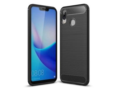 Силиконов гръб Carbon за Huawei Honor Play , Черен