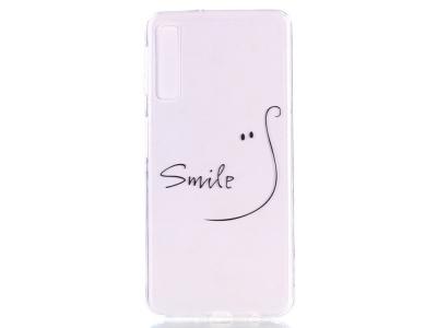 Силиконов Гръб за Samsung Galaxy A7 (2018) A750 , Усмивка