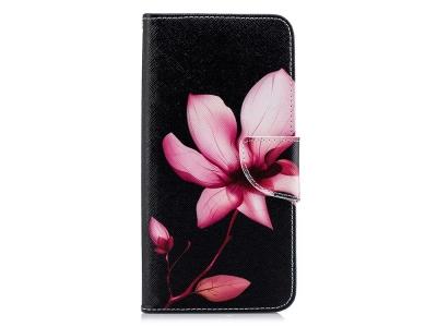 Калъф Тефтер за Samsung Galaxy  A7 (2018) A750, Розово цвете