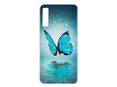Силиконов Гръб за Samsung Galaxy A7 (2018) A750 , Светеща пеперуда