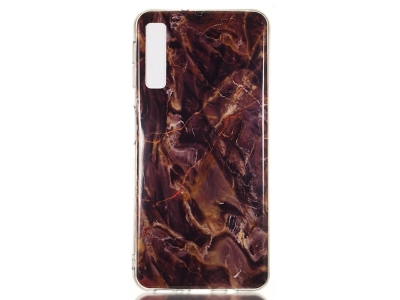 Силиконов Гръб Marble за Samsung Galaxy A7 (2018) A750 , Кафяв