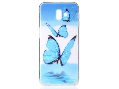 Силиконов гръб за Samsung Galaxy J6 Plus , Синя пеперуда