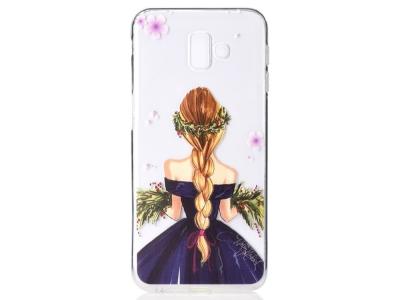 Силиконов гръб за Samsung Galaxy J6 Plus, Момиче