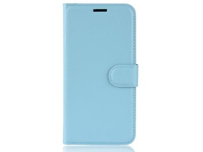 Калъф тефтер Litchi за Samsung Galaxy J6 Plus , Светло син