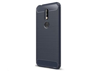 Силиконов гръб Carbon за Nokia 7.1 , Тъмно син