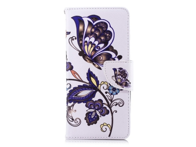 Калъф Тефтер за Nokia 5.1, Цветя и пеперуди