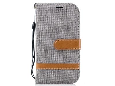 Калъф Тефтер Jeans за Nokia 1 , Сив
